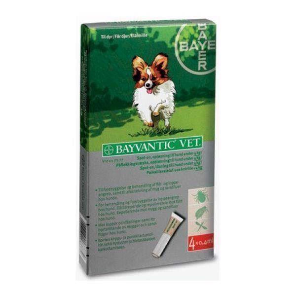 N/A – Bayvantic loppemiddel til hunde under 4 kg på mypets.dk