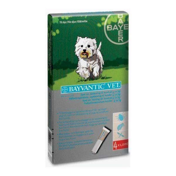 N/A – Bayvantic loppemiddel til hunde 4-10 kg på mypets.dk
