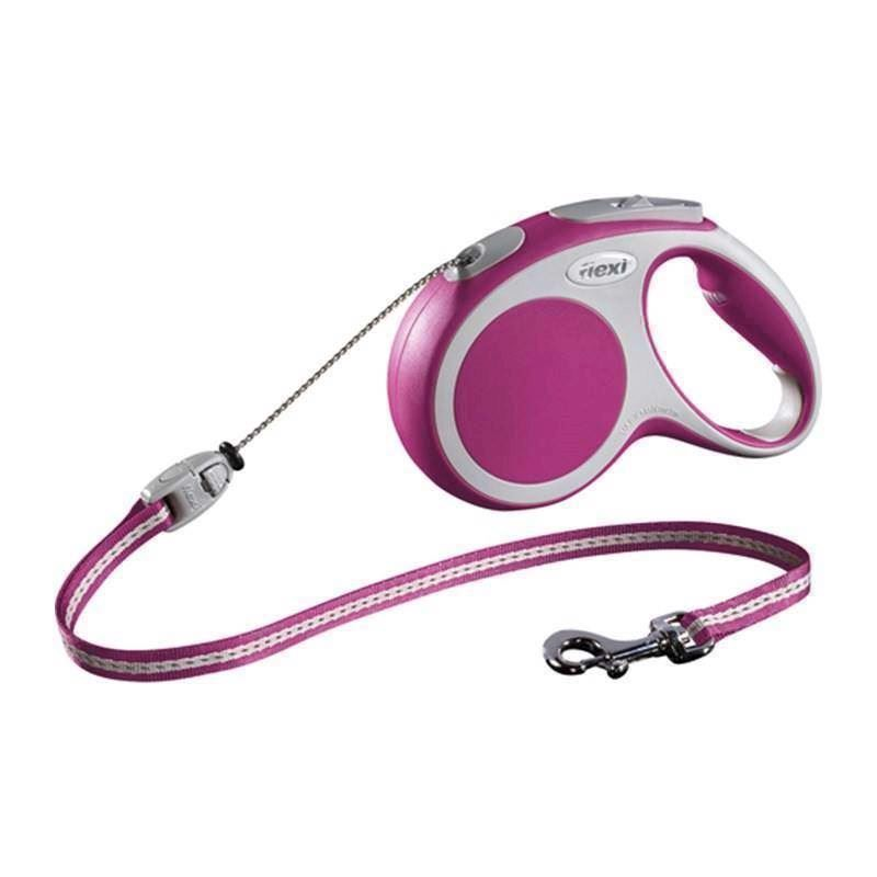 N/A Flexi vario snorline, pink, 5 meter, 20 kg på mypets.dk