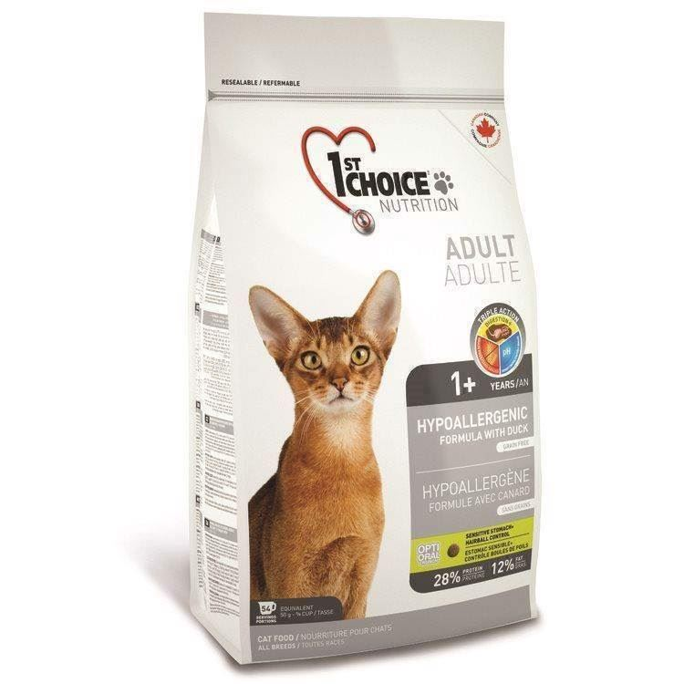 N/A 1st choice hypoallergenic duck, adult kat 2,72 på mypets.dk