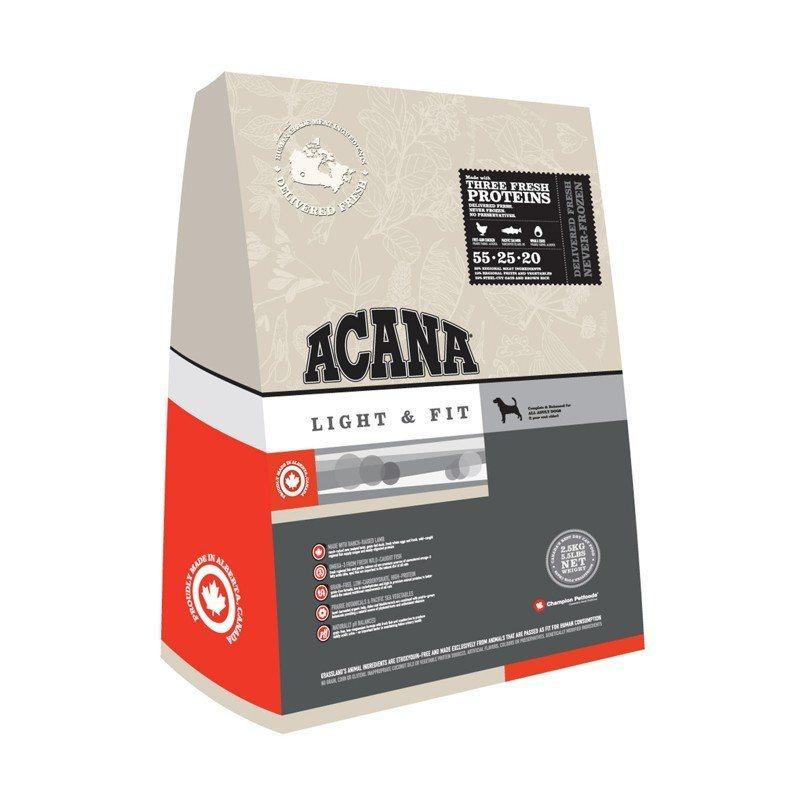 acana light and fit er et komplet afbalanceret fuldfoder. Black Bedroom Furniture Sets. Home Design Ideas