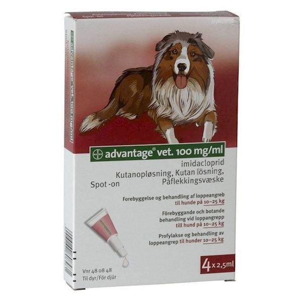 N/A Advantage vet loppemiddel til hunde 10-25 kg fra mypets.dk