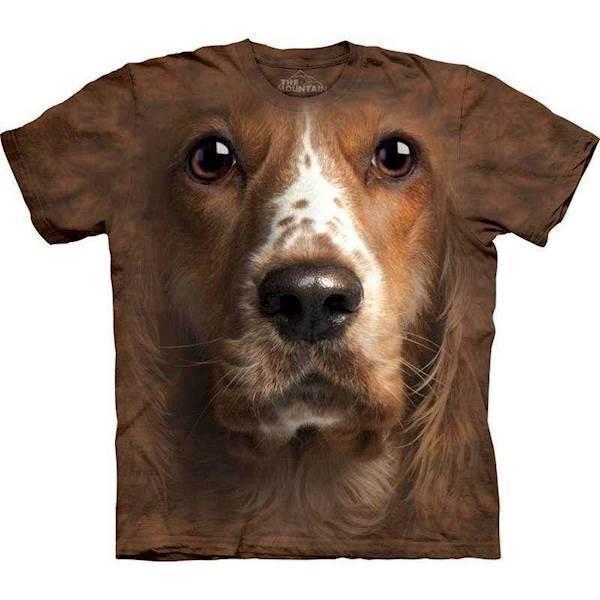 N/A T-shirt med kæmpe cocker spaniel ansigt fra mypets.dk