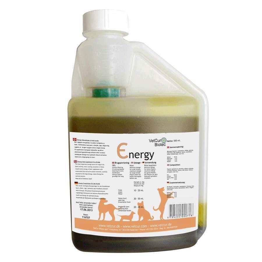 N/A – Energy, olietilskud til hunde for ekstra energi på mypets.dk