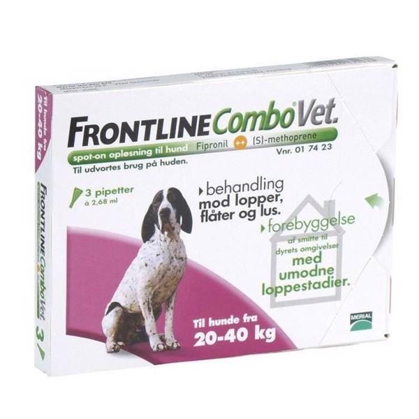 Frontline combo loppemiddel til hunde 20-40 kg fra N/A fra mypets.dk