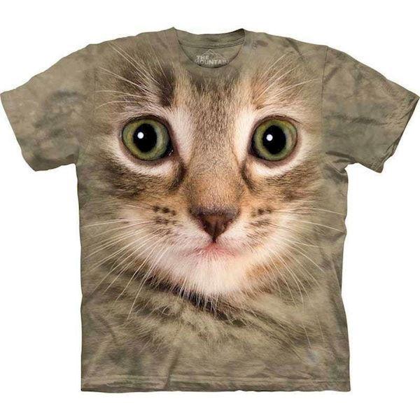 T-shirt med kæmpe gråstribet kat fra N/A fra mypets.dk