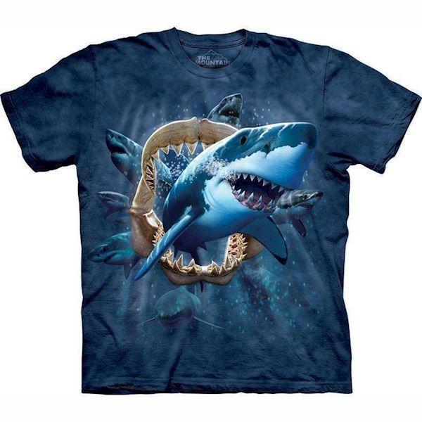 N/A – Shark attack t-shirt fra mypets.dk