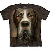 T-shirt med k�mpe Pointer ansigt