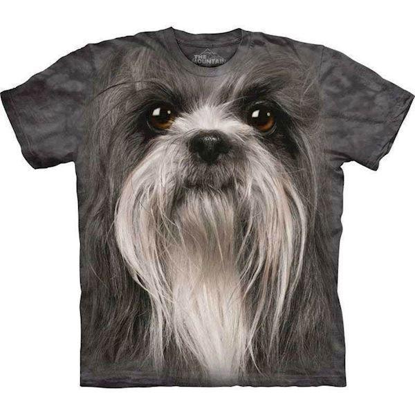 N/A T-shirt med kæmpe shih tzu ansigt på mypets.dk