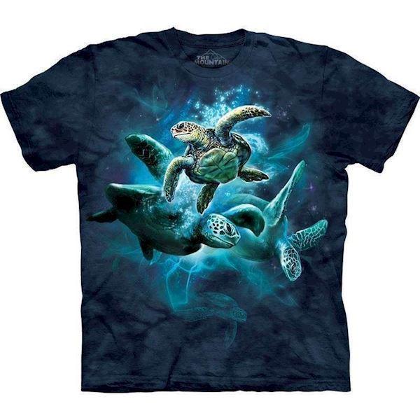 N/A – T-shirt med skildpadde collage fra mypets.dk