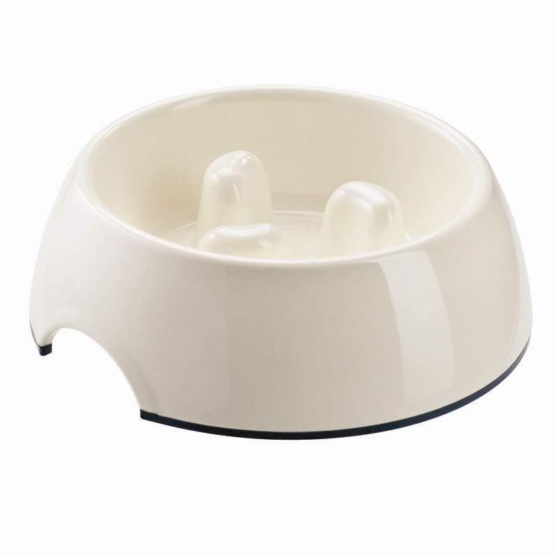 N/A Feeding control skål i melamin, hvid, 300 ml fra mypets.dk