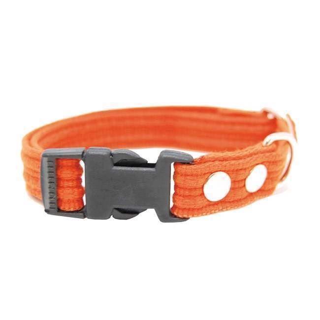 N/A – Webbing halsbånd med snaplås, orange, medium på mypets.dk
