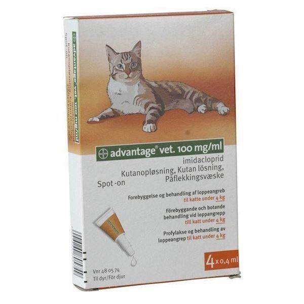 N/A Advantage loppemiddel til katte under 4 kg fra mypets.dk