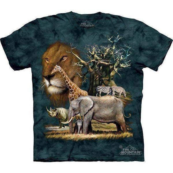 N/A Afrika collage t-shirt fra mypets.dk