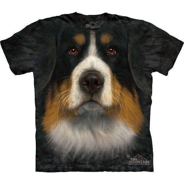 N/A T-shirt med berner sennen ansigt på mypets.dk