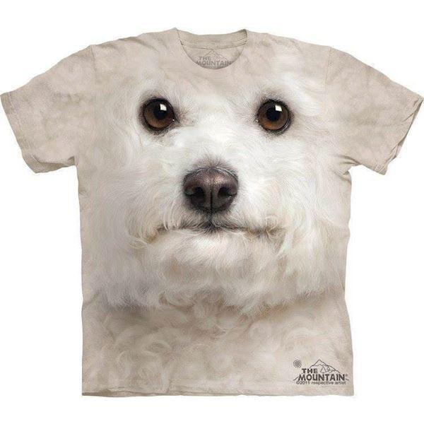 N/A – T-shirt med kæmpe bichon frisé ansigt på mypets.dk