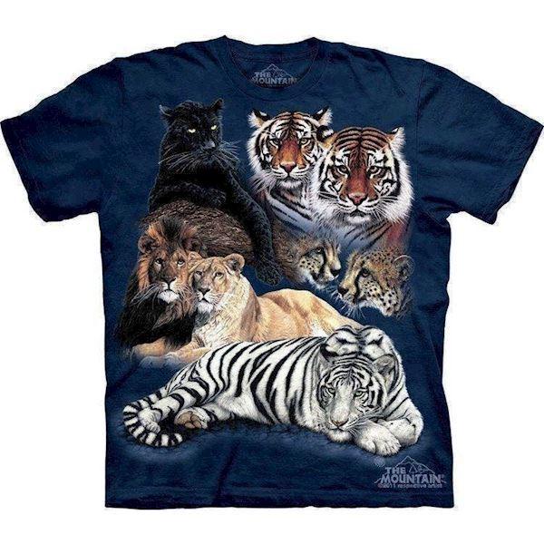 T-shirts med vilde katte collage fra N/A fra mypets.dk