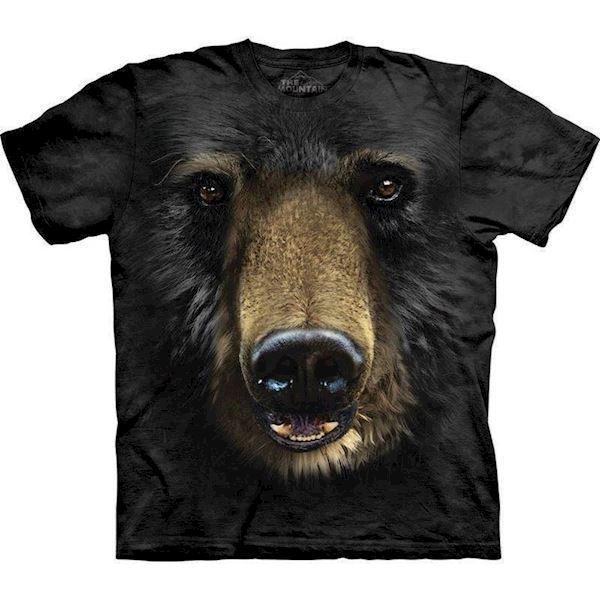 N/A – T-shirt med kæmpe bjørneansigt fra mypets.dk