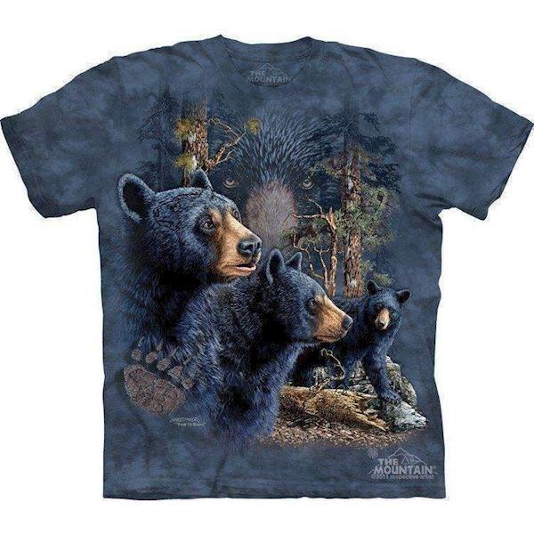 N/A T-shirt med bjørne i skoven fra mypets.dk