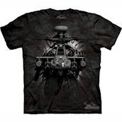 T-shirt med 3D Apache helikopter