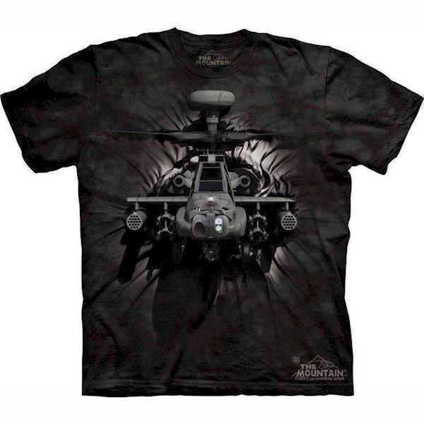 T-shirt med 3d apache helikopter fra N/A fra mypets.dk