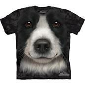T-shirt med Border Collie ansigt