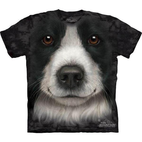N/A T-shirt med border collie ansigt på mypets.dk