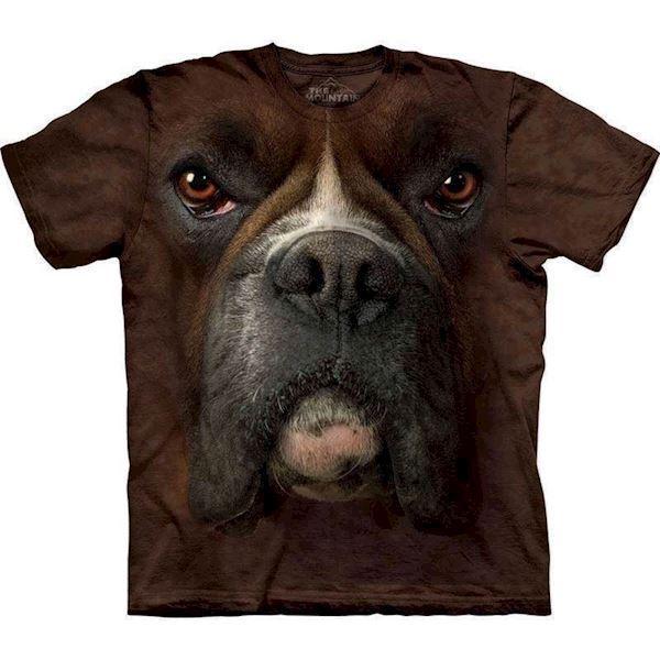 T-shirt med kæmpe boxer ansigt fra N/A fra mypets.dk