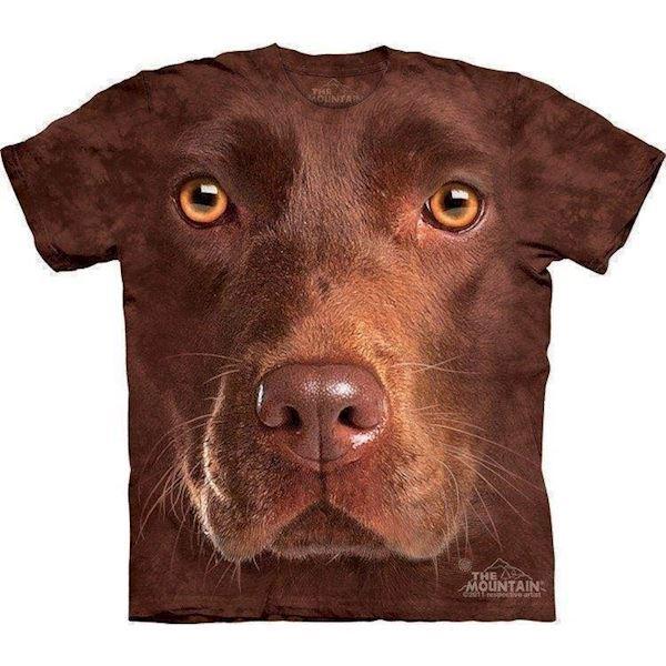 N/A – T-shirt med kæmpe brun labrador ansigt fra mypets.dk