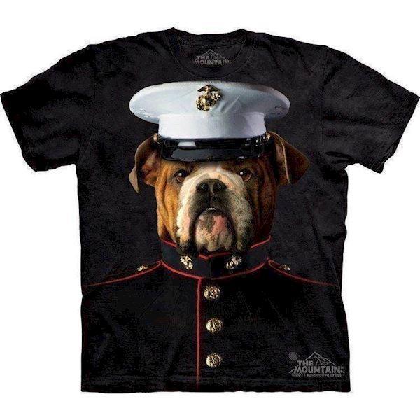 T-shirt med bulldog marine motiv fra N/A på mypets.dk