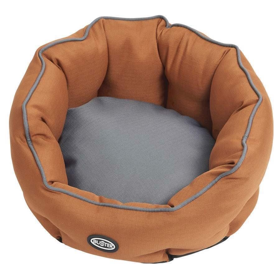 N/A – Buster cocoon seng, leather brown/steel grey, small fra mypets.dk