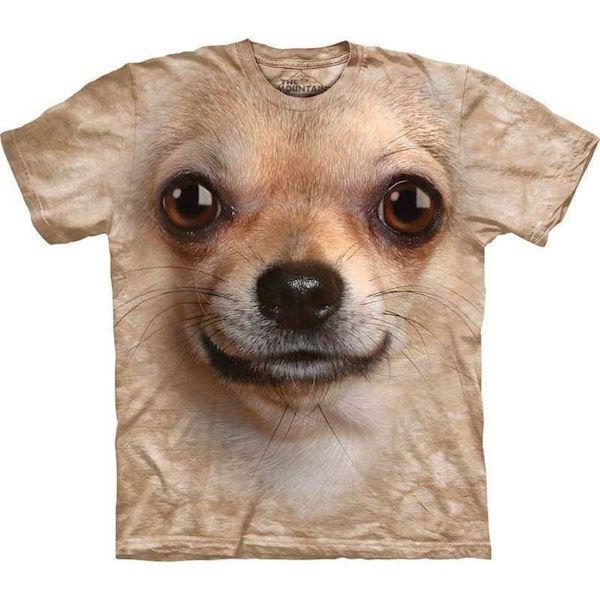 T-shirt med kæmpe chihuahua ansigt fra N/A på mypets.dk