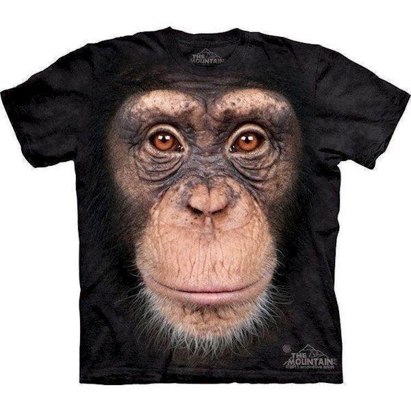 N/A – Chimpanse ansigt t-shirt på mypets.dk