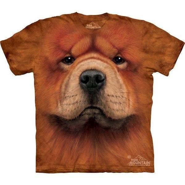 N/A T-shirt med chow chow ansigt fra mypets.dk