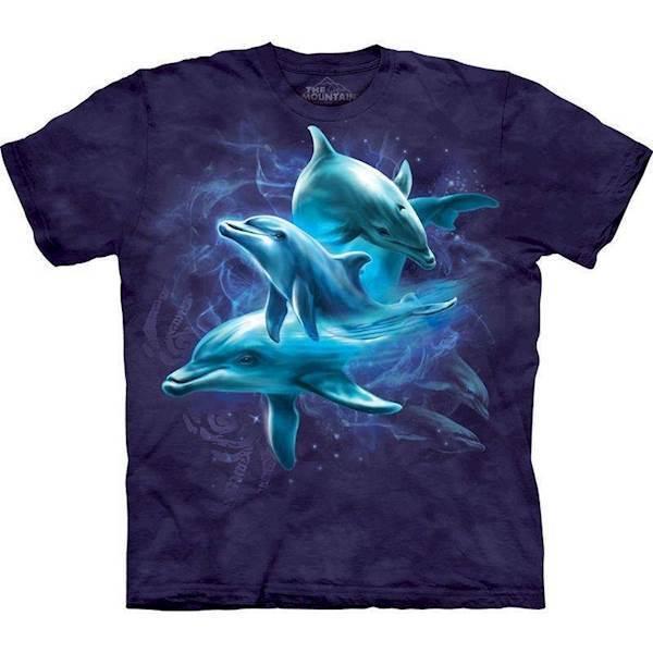 N/A – T-shirt med delfin collage fra mypets.dk