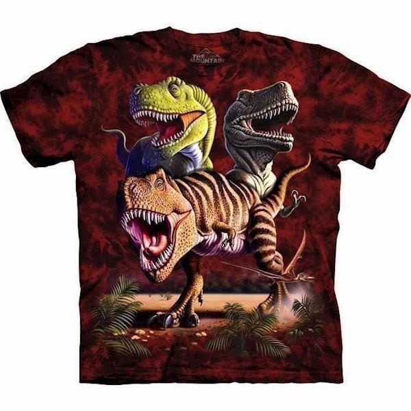 N/A – T-shirt med dinosaurus collage fra mypets.dk