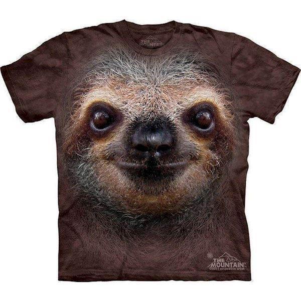 T-shirt med kæmpe dovendyr ansigt fra N/A fra mypets.dk