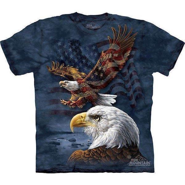 N/A Eagle flags t-shirt fra mypets.dk