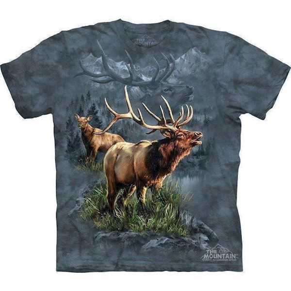N/A – T-shirt med beskyttende elg motiv fra mypets.dk
