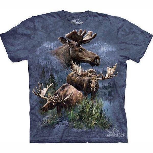 N/A T-shirt med elge collage fra mypets.dk