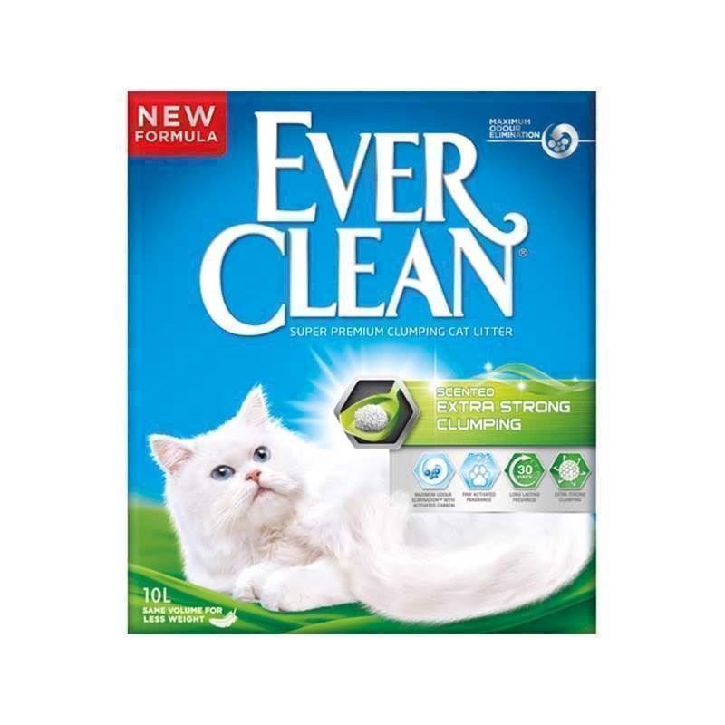 N/A Ever clean extra strength scented, klumpende kattegrus - 10 l på mypets.dk