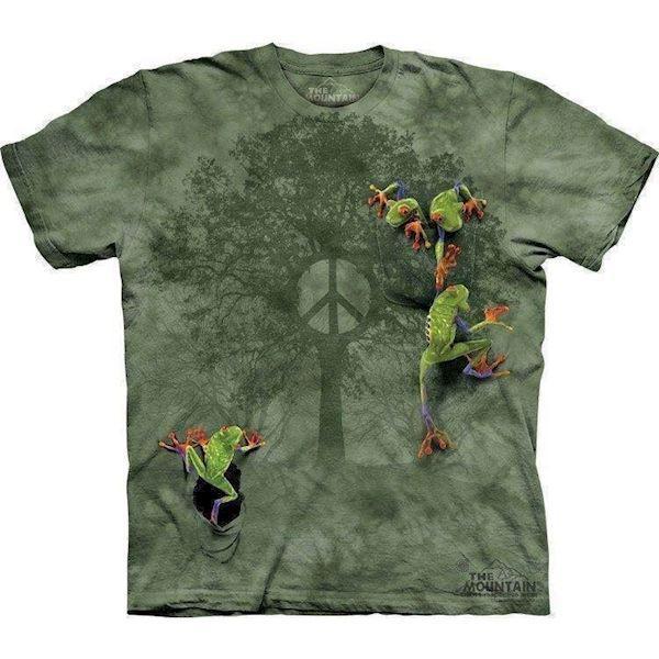 Peace frog t-shirt fra N/A på mypets.dk