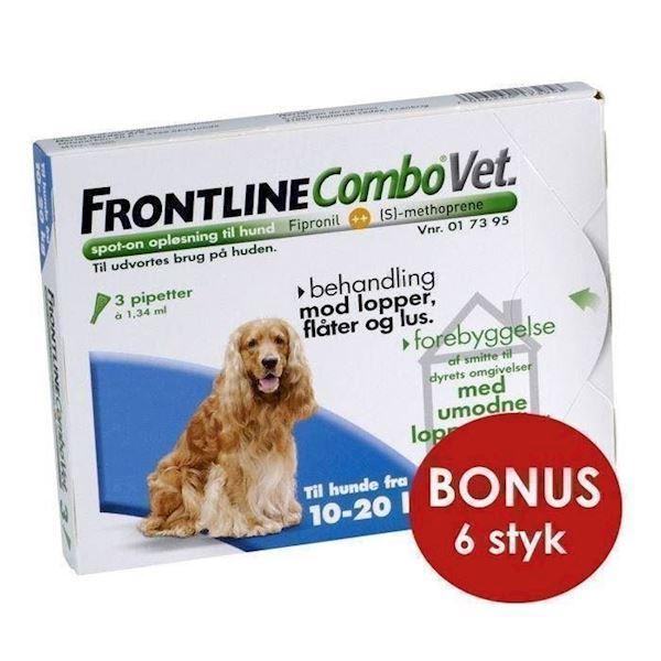 N/A Frontline combo til hunde 10-20 kg - bonuspakke 6 stk på mypets.dk