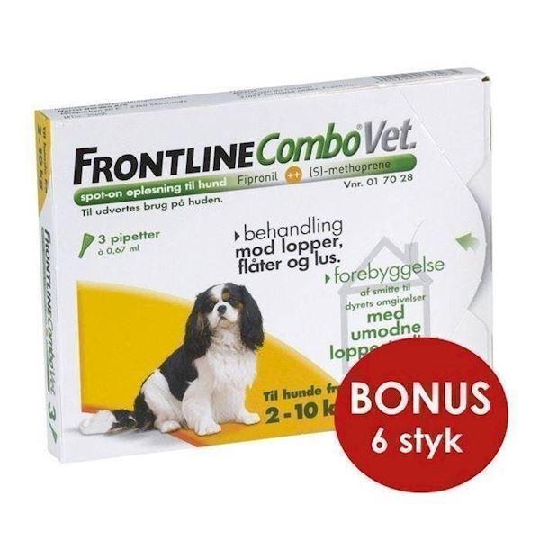 Frontline combo til hunde 2-10 kg, bonuspakke 6 stk fra N/A på mypets.dk