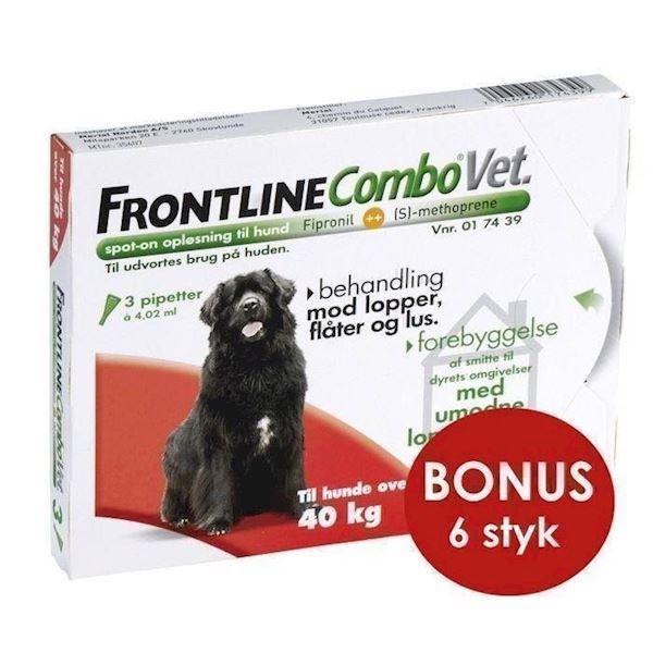 N/A Frontline combo til hunde over 40 kg - bonuspakke 6 stk på mypets.dk