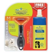 FURminator Long hair strigle + gratis shampoo