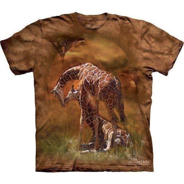 N/A – T-shirt med giraf og føl fra mypets.dk