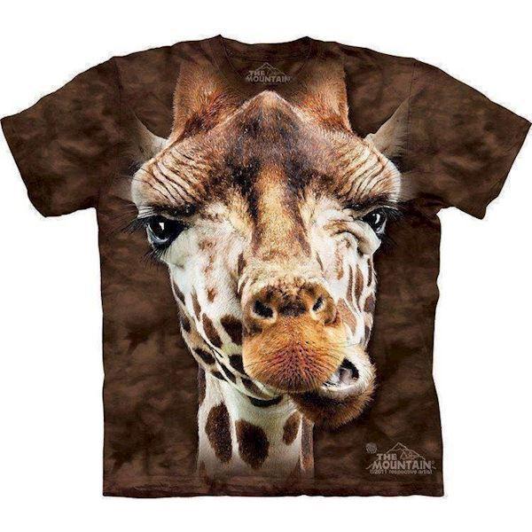 N/A – Giraf ansigt t-shirt, voksen 2xl på mypets.dk