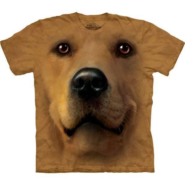N/A – T-shirt med kæmpe golden retriever ansigt fra mypets.dk