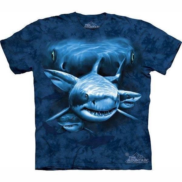 N/A T-shirt med haj collage på mypets.dk